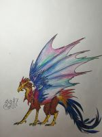 Rooster Dragon! by Phoenix-of-Pyrrhia