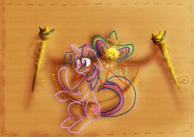Wrapped around his knitting needles by Geckofly