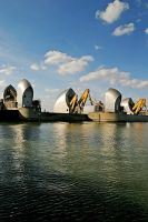 Thames Flood Barrier No2 by Andrew-and-Seven
