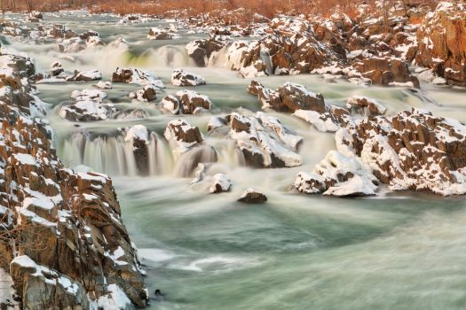 Great Falls Winter Jade Cascades by somadjinn