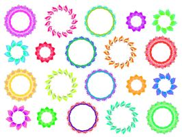 161 circle frames colours by Tigers-stock