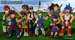 RPG Heroes of the SNES by SouthtownExpress