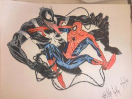 Spiderman vs. Venom by Kitel7997