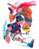 Sasuke vs. Naruto by evelmiina