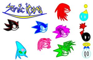 Sonic icon characters1 by DeltaR-02