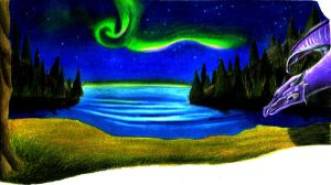 northern lights by Dragon2007