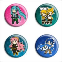 Vocaloid Buttons by Maxx-V
