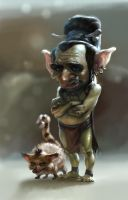 sad goblin by dron111