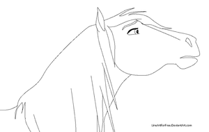 Free Mare LineArt by LineArtForFree