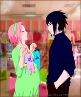 SasuSaku Going to the store by byBlackRose