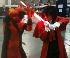 Lightsaber duel: Alucard vs Deadpool by LON3LYPRINCE86