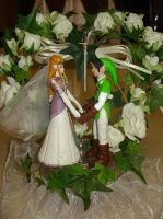 Link and Zelda Cake Topper by ArtBySabinaE