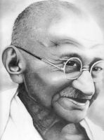 Ghandi by Bambooblue