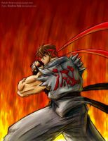 Evil Ryu colored by shadow-link