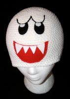 Mario Bros Boo Beanie by rainbowdreamfactory