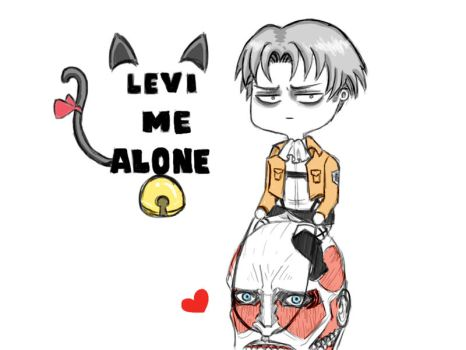 Levi Me Alone by cruxiepink