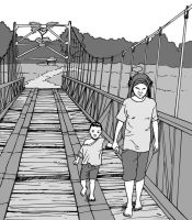 Crossing With Mom by paragraphworld