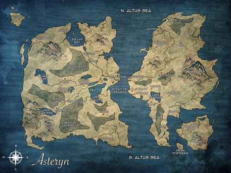 TCM: Map of Asteryn by LivingAliveCreator