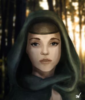 The Priestess of the forest by SWing-Art
