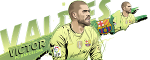 Victor Valdes 1 FC Barcelona by akyanyme