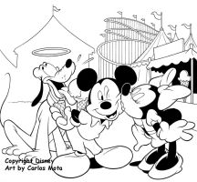 Mickey Minie and Pluto by CarlosMota