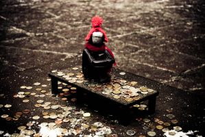 a boy with red hat by onon