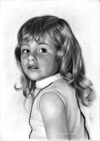Little girl drawing from an old drawing by Thubakabra