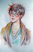 HP- Harry portrait by andreanna