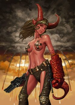 hellgirl in colors by molybdenumgp03