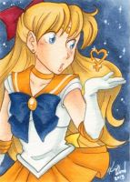 Sketch Cards - Sailor Venus by Karmada