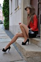 red girl by juuliiaaa