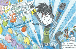 Congradulation!! You have 1,000 Deviations!! by FelixToonimeFanX360