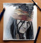 Tonto Color Pencil Drawing by AtomiccircuS