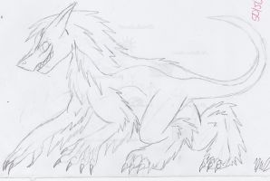 First Attempt At Drawing A Sergal by psycholiger13