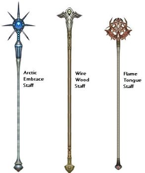 Elemental Staffs by D3vi1sView