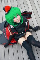 Macross Frontier - Black Bunny Ranka by Xeno-Photography