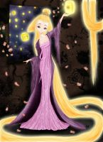 Rupunzel saw the Lights by aznxtian