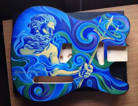 Neptune guitar painting by anrasmus