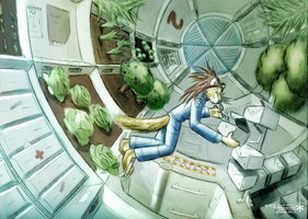 Zero gravity Space Greenhouse by Snowfall-The-Cat