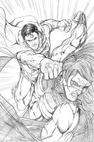 Superman vs Sentry by martheus