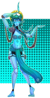 Turquoise Fusion Dance by clockworkViper