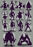 DOTA silhouette speedpaints by Spikings