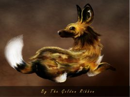 African Wild Dog Dark by Golden-Ribbon