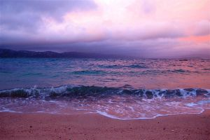 Oriental Bay at Sunset by WimskryBee