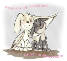 Need a wing Valentine by Ghost-Peacock