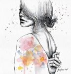 Implosion, watercolor with ink by jane-beata