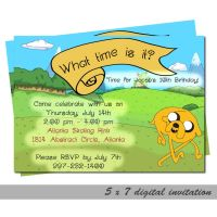 Adventure Time Jake - 5x7 Digital Invitation by KyraStarr