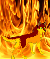 Fire Wolf Adoptable- CLOSED by Dapplefire