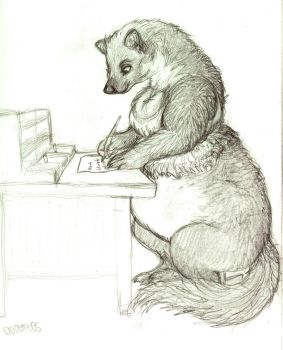 big marten lady, writing by mushyZ