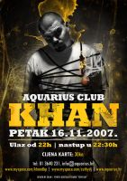 Khan at Aquarius poster by skam4